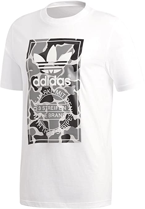 adidas Camo Label Tee Maglietta, Uomo, Grigio,: Amazon.it