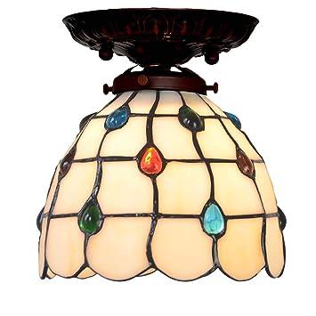 Lámpara de techo Tiffany-Stil de 7 pulgadas, minimalista ...
