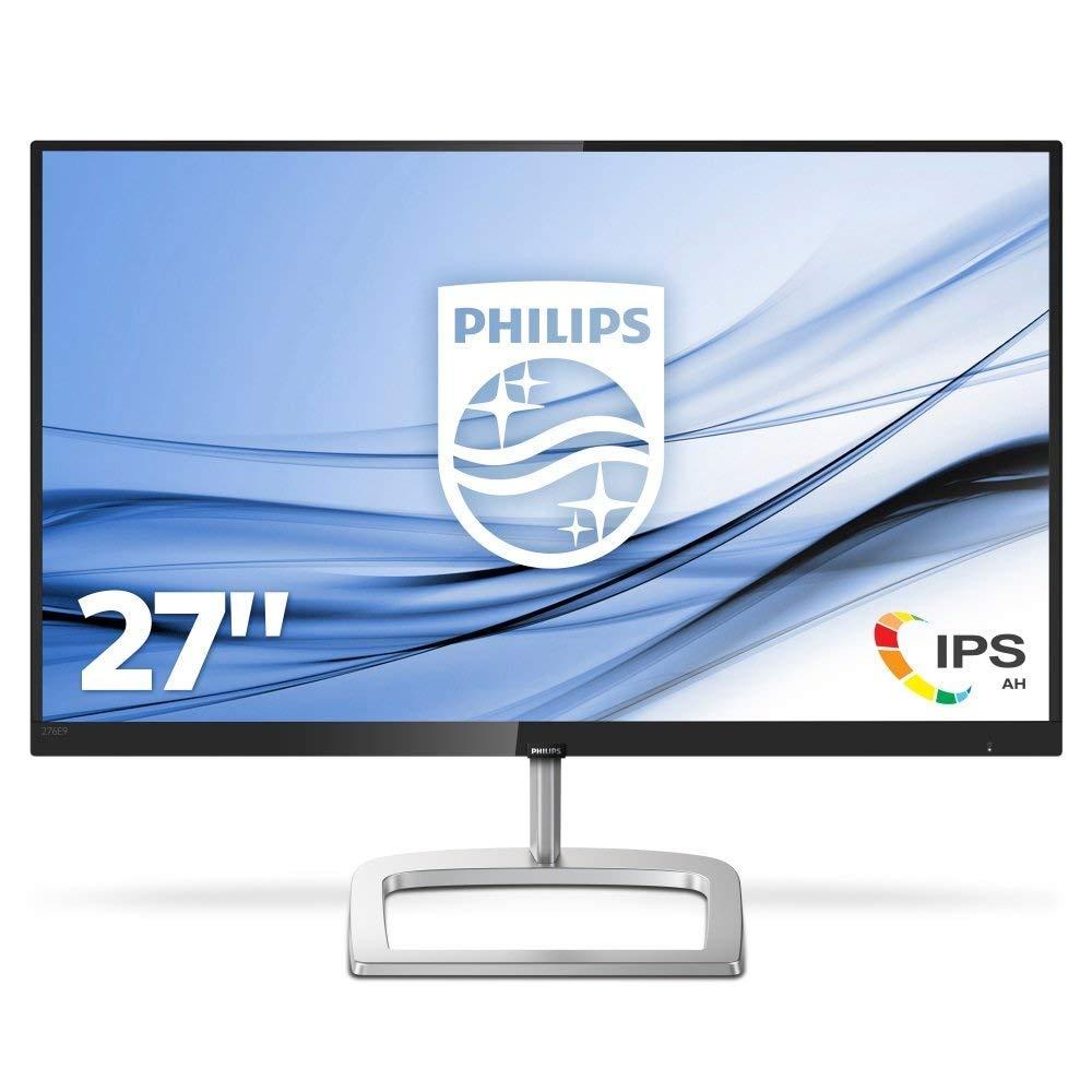 Philips 276E9QSB Monitor 27' LED IPS Full HD, Tecnologia Ultra Color, 1920 x 1080, 5 ms, 3 Side Frameless, Cornici Sottili, Low Blue Mode, Flicker Free, DVI, VGA, Attacco VESA, Nero 276E9QSB/00