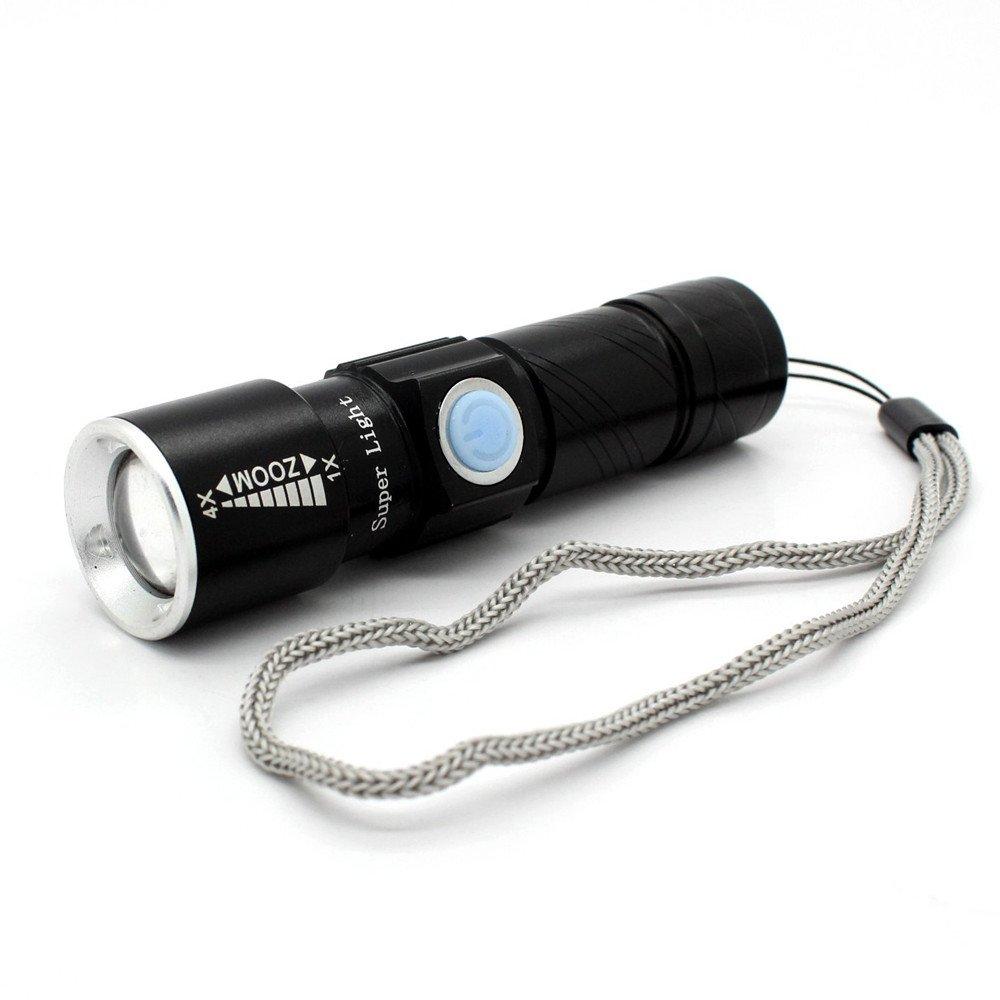 Jasonwell Mini Usb Rechargeable Led Flashlight Torch Adjustable Focus Zoomabl.. 12