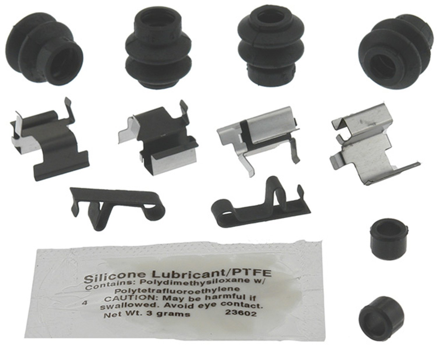 ACDelco 18K2003X Professional Rear Disc Brake Caliper Hardware Kit with Clips, Seals, Bushings, and Lubricant