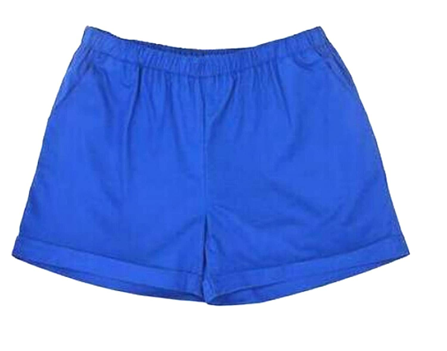 Papijam Womens Casual Pocket Crimping Home Solid Beach Active Short