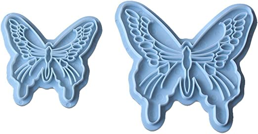 2Pcs Butterfly Shapes Mould Fondant Decorating Tools Butterfly Cake  Mold