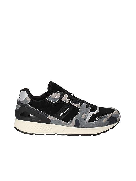 Polo Ralph Lauren - Zapatillas de Ante para Hombre Negro Negro: Amazon.es: Zapatos y complementos