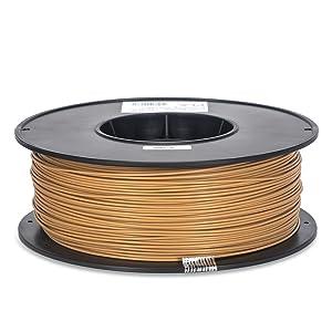 Inland 1.75mm Light Brown PLA 3D Printer Filament - 1kg Spool (2.2 lbs)