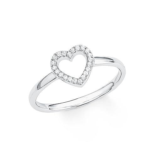 1519ef6f6b9b s.Oliver Damen-Ring So Pure Herz 925 Sterling Silber rhodiniert Zirkonia  weiß  Amazon.de  Schmuck