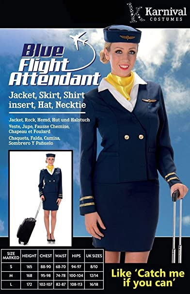 generique Costume da hostess di volo blu per adulto XS