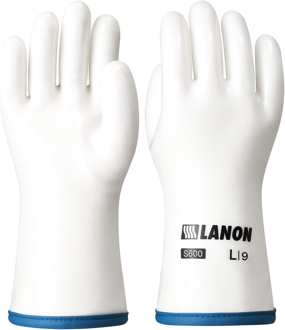 LANON Protection Heat Resistant Oven Mitts, Liquid Silicone Gloves with Fingers for Barbecue, Baking, Cooking, BPA Free, Large