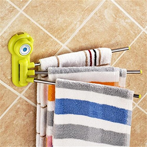 Bathroom Stainless Steel Towel Bar Rotating Towel Rack Storage Bathroom Kitchen Towel Polished Rack Holder Hardware Accessory White