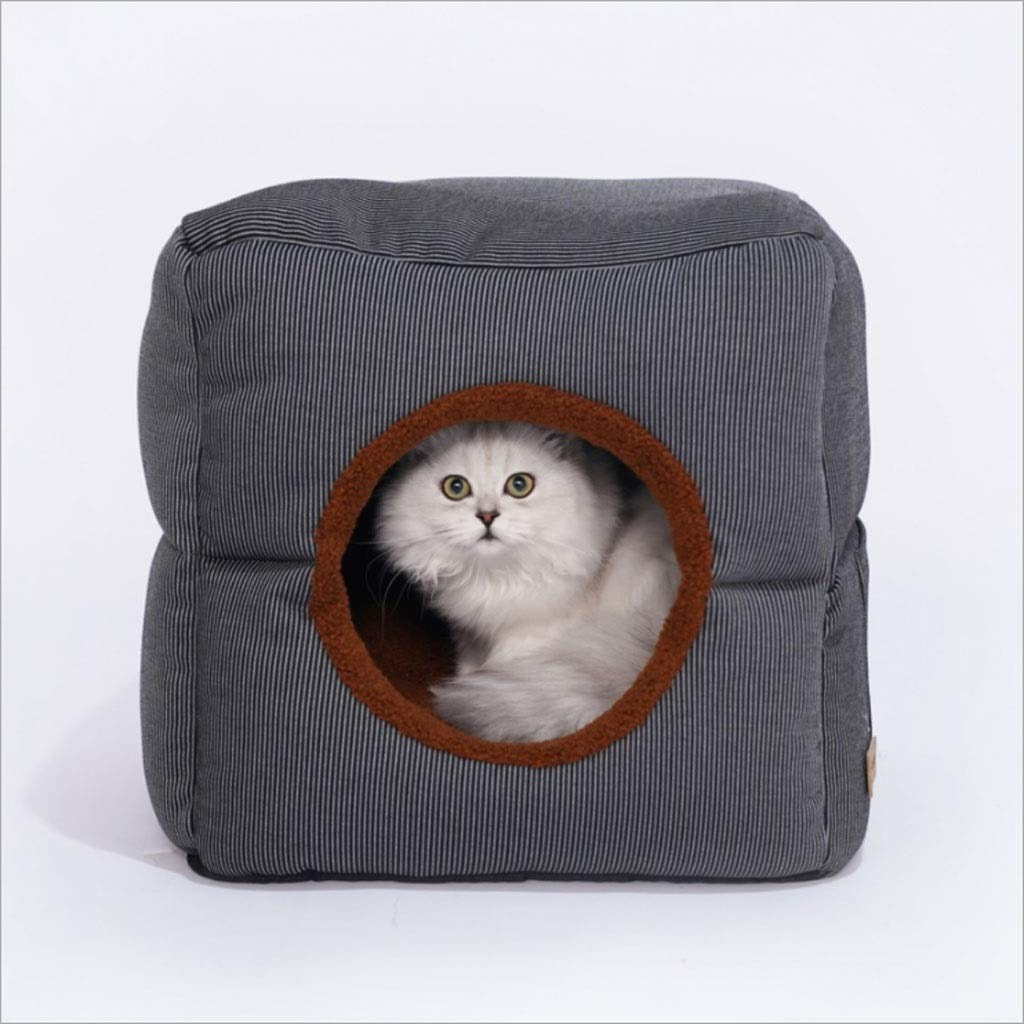 JinYiming Pet Purpose Nest Cat Litter Dog Nest Semi-enclosed Type Easy to Clean Large Pet Nest