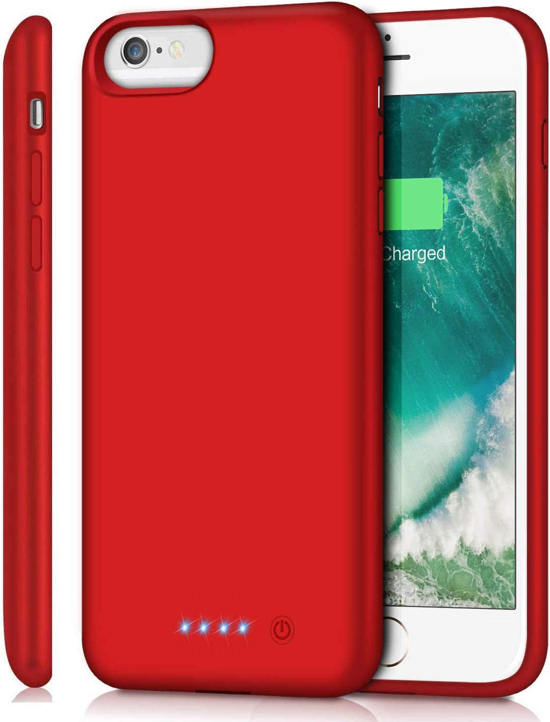Battery Case for iPhone 6s Plus/6 Plus/7 Plus/8 Plus 8500mAh, Rechargeable Charging Case for iPhone 6Plus Extended Battery Pack Charger 6s Plus Portable Power Bankup Cover for 7P 8P (Red)