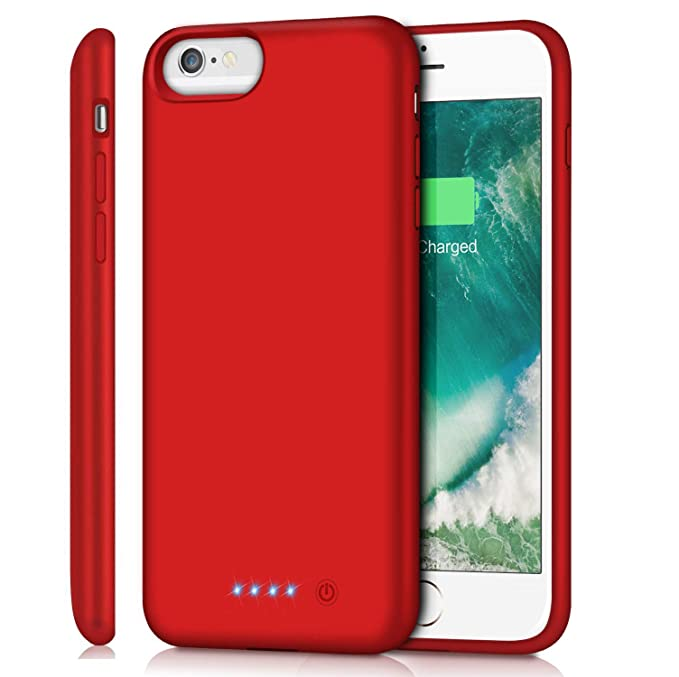 Red Battery Case for iPhone 6s Plus//6 Plus//7 Plus//8 Plus 8500mAh Rechargeable Charging Case for iPhone 6Plus Extended Battery Pack Charger Apple 6s Plus Portable Power Bank Cover for 7P 8P