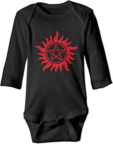 Infant Baby Girl Boy Supernatural Love Anti Possession USA Flag Outfit Romper Jumpsuit Short Sleeved Bodysuit Tops Clothes