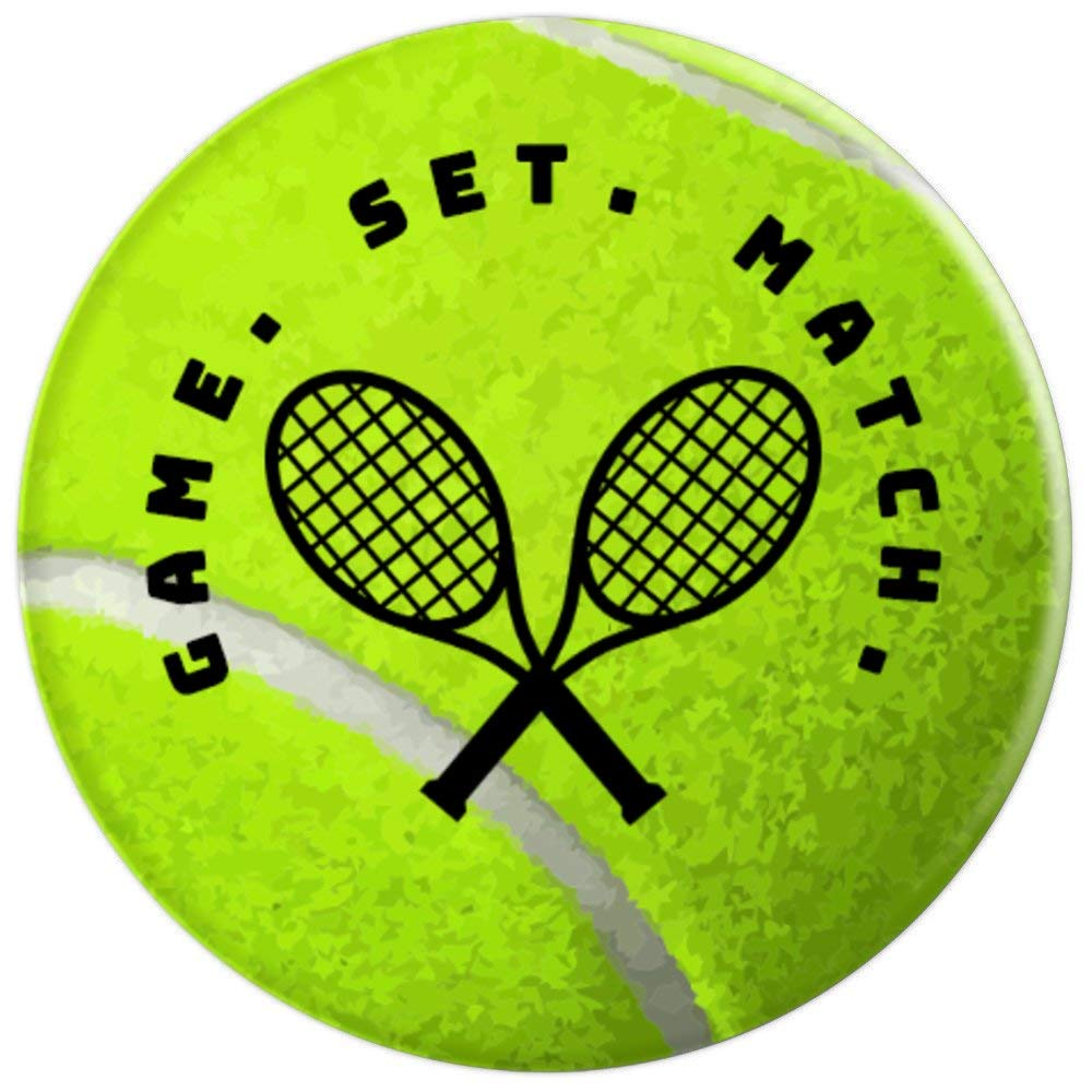 Amazon.com: Game Set Match Tennis Racket And Ball Cell Grip ...