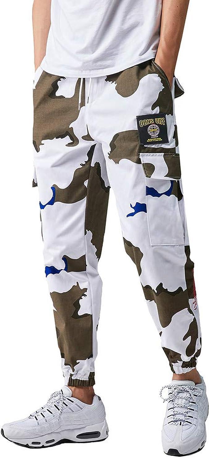 Alla Moda da Uomo Camouflage Cargo Militare Pantaloni Harem Corsa Sport Tuta