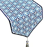 Simple table/chinese coffee table flag/joker bed scarf-Blue 32x240cm(13x94inch)