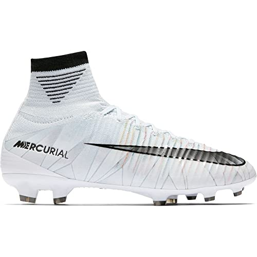 differently 0f7a7 23ceb Nike Junior Mercurial Superfly V CR7 DF FG Football Boots 922586 Soccer  Cleats (UK 3.5