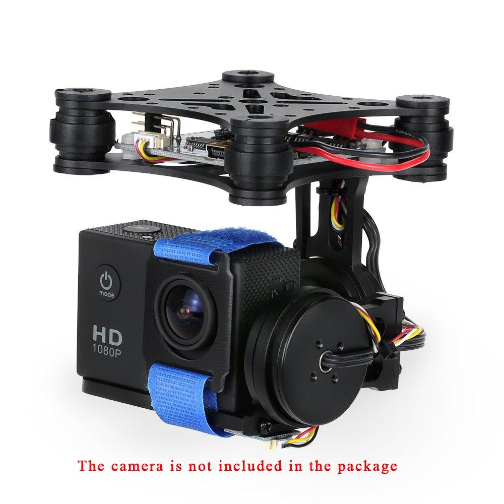 GoolRC OCDAY 2-Axis Brushless PTZ Control Panel Gimbal for Gopro3 4 DJI SJ4000 SJ5000 Aerial Photography Black