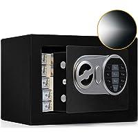 SamYerSafe Safe Box with Sensor Light, Security Safe with Digital Keypad Money Safe Steel Construction Hidden with Lock…