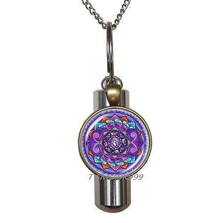Yaaoiidirrrnzaxkcc Om Mandala Art Collar urna de cremación ...