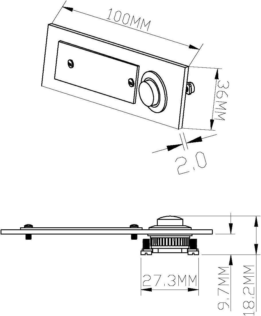 con espacio para nombre Rectangular Huber timbre de acero inoxidable 12501 1/compartimento rasante