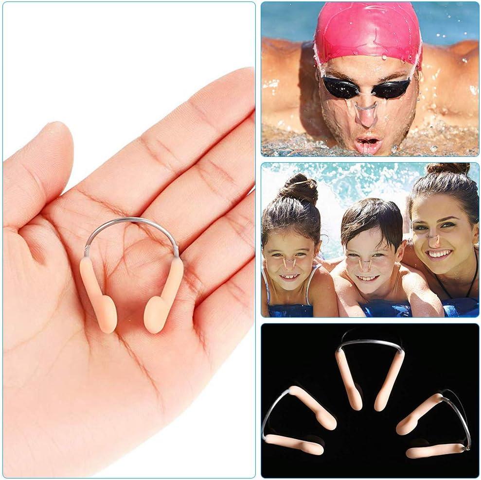 Gobesty Naso Clip Nuoto 6 Pezzi Protezione per Clip da Naso da Nuoto con Scatola Presa per protettore da Nuoto per Adulti Bambini Principianti Che nuotano