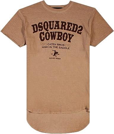 DSQUARED2 Camiseta Vaquera marrón Brown Extra Large: Amazon.es: Ropa y accesorios