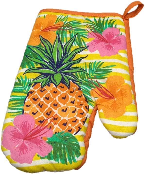 Set Of 2 Summer Themed Kitchen Towels Pineapples And Hibiscus 15 X 25 Towels Dishcloths Linens Textiles