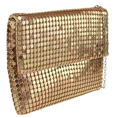 Girly Chainmail HandBags Girly Clutch Bag Chainmail HandBags Champagne 7awOUnqqx