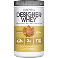 Designer Whey Protein Powder, Vanilla Almond, 1.9 Lb, Non GMO, Made in USA