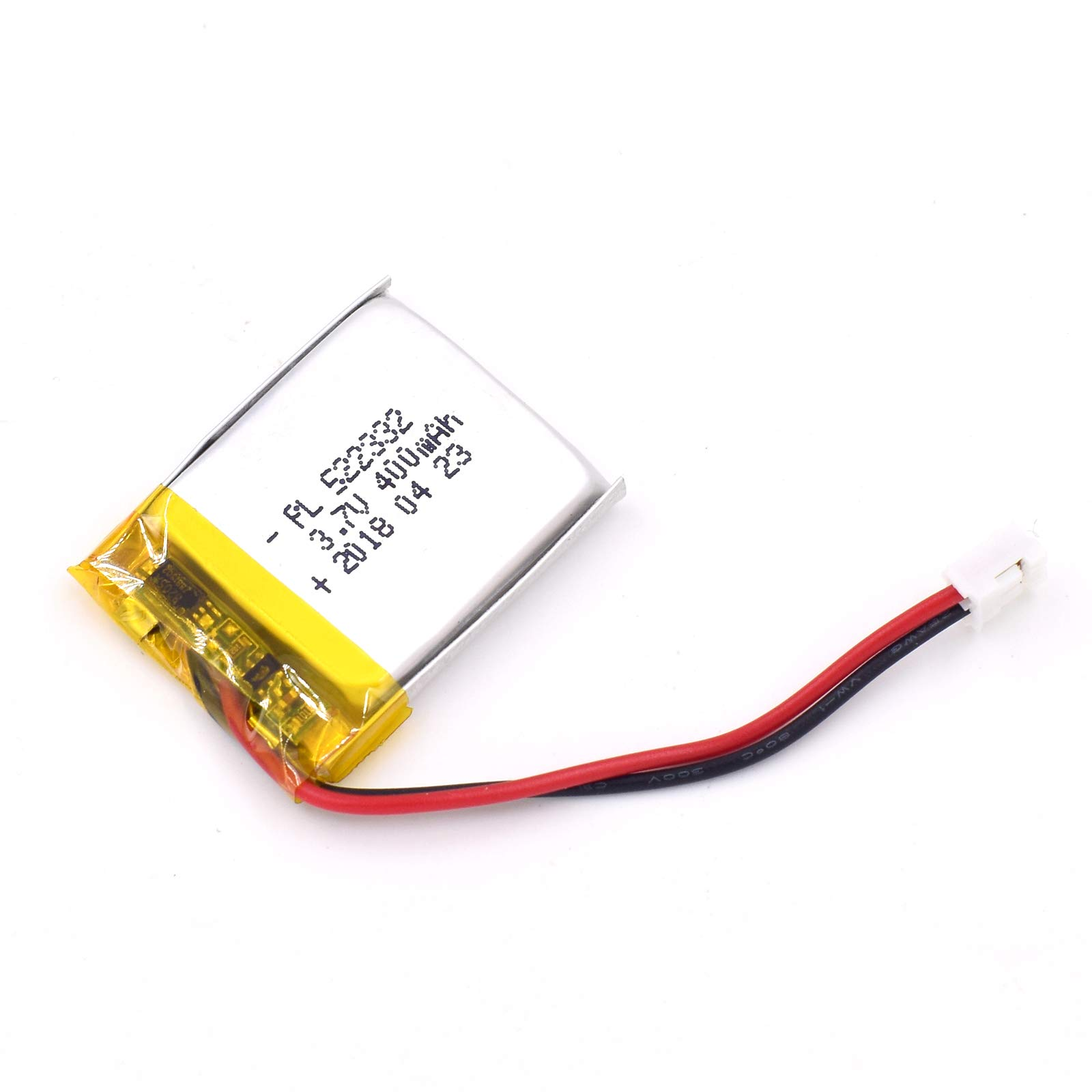 Bateria Lipo 3.7V 400mAh 522332 Recargable JST Conector