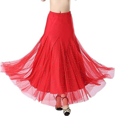 JTSYUXN Falda De Baile De Salón De Baile para Mujer Falda De Baile ...