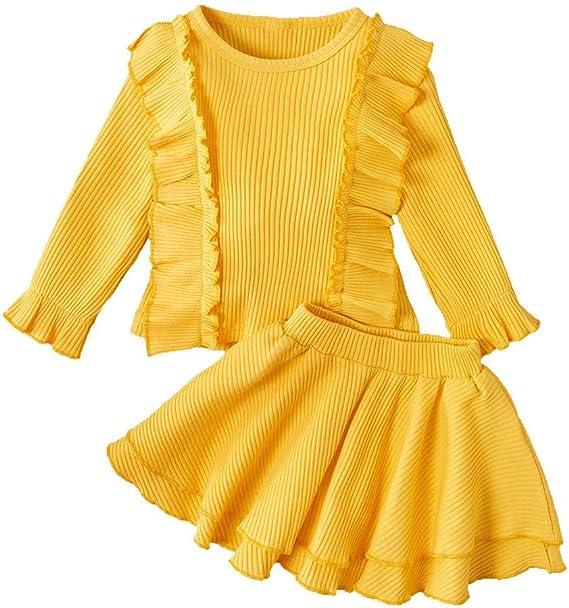 OPAKY Suéter para Niñas Vestido de Princesa de Punto de Manga ...