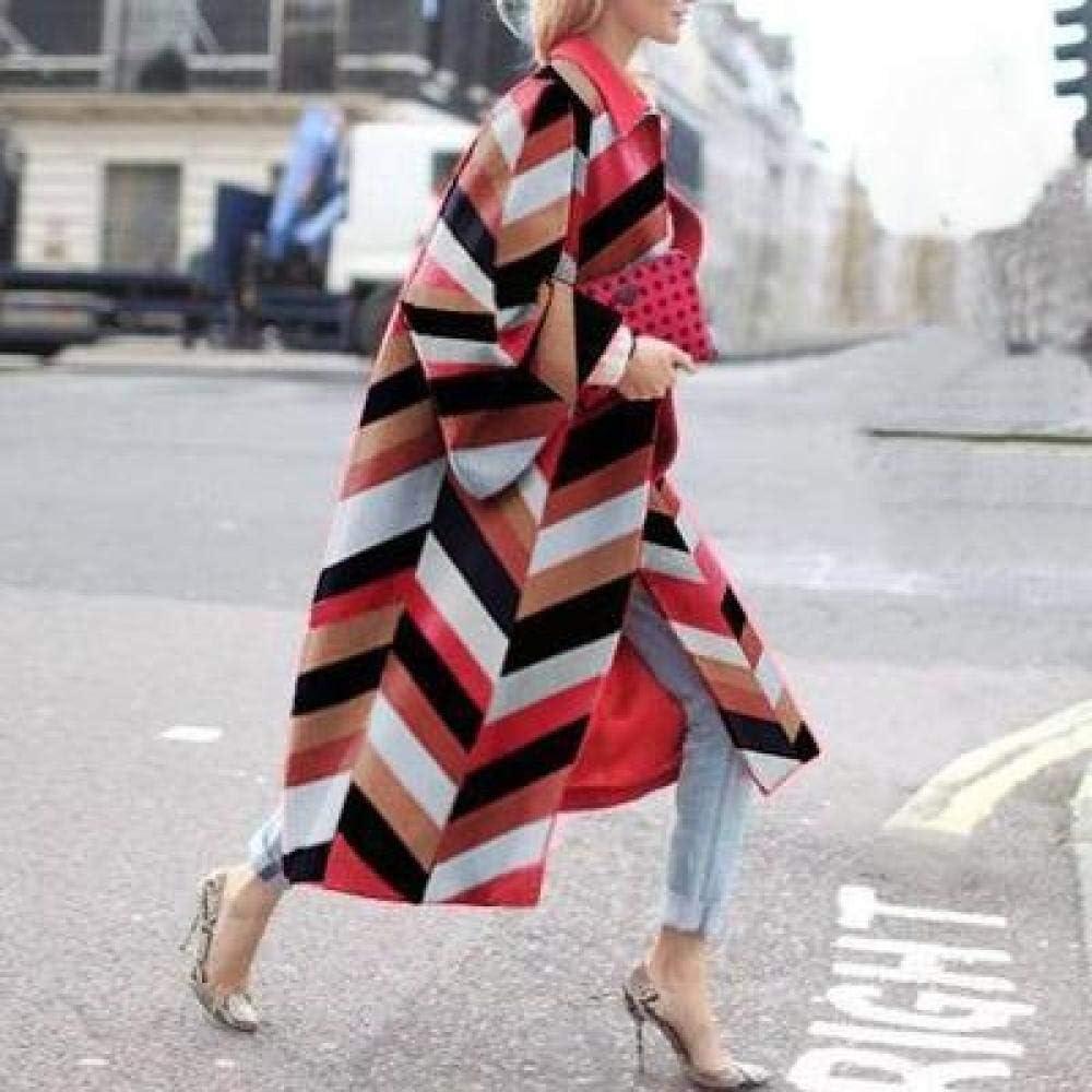 Wuyuana Trench Coat Long Coat Women's Windbreaker Windbreaker Street Clothing Ladies Clothing Elegant Windbreaker Women Womens Coat (Color : 17 ,  Size : Large)
