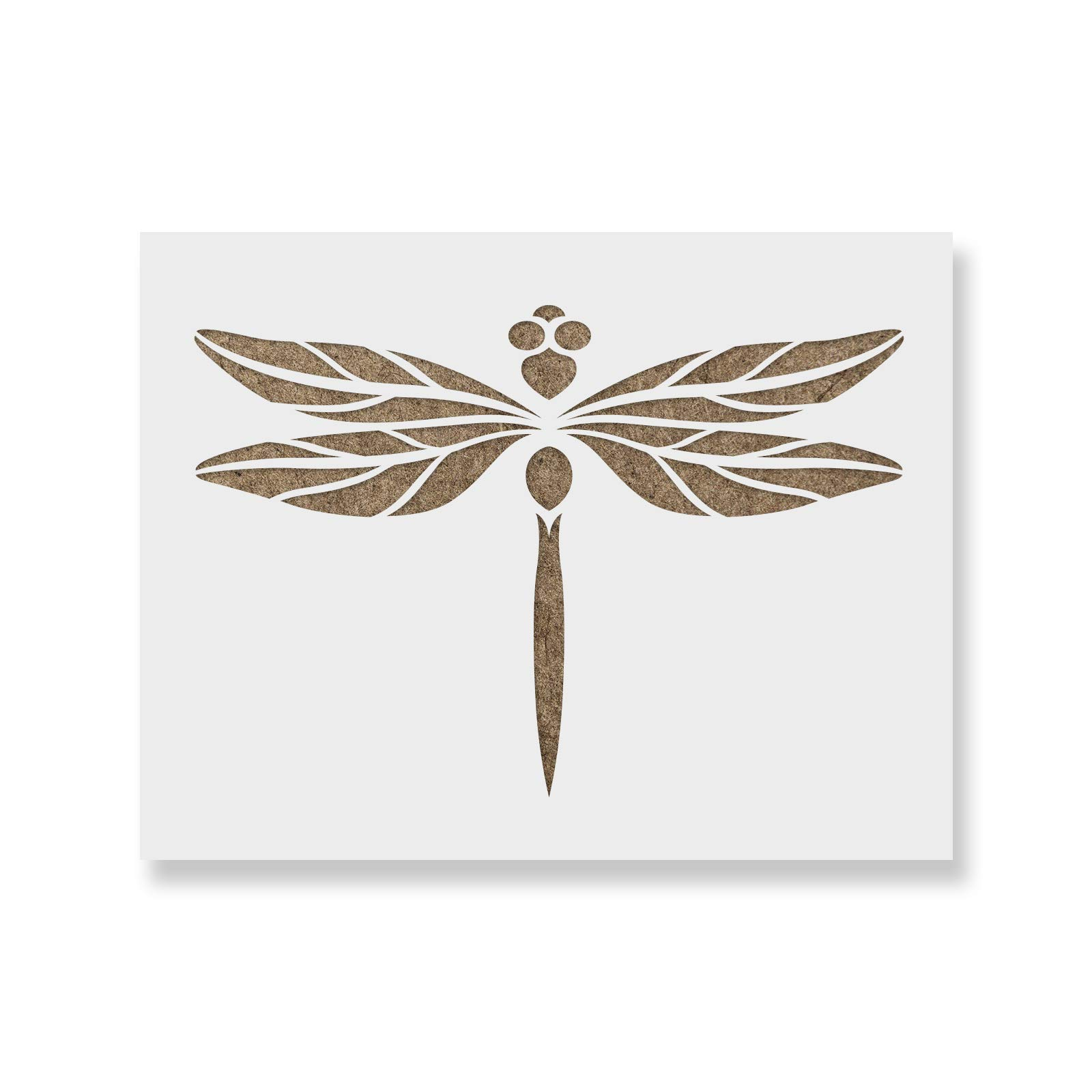 Dragonfly Stencil Template - Reusable Stencil with Multiple Sizes Available