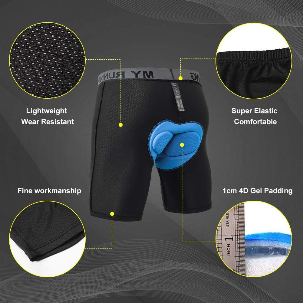 MEETYOO Pantalones cortos de ciclismo para hombre acolchados para ciclismo transpirables 4D