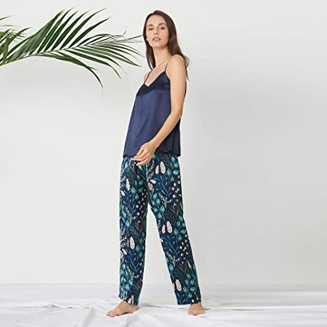 2108647f0034f9 LilySilk Seide Schlafanzug Pyjama Damen Trägertop Oberteil ...