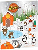 REESE Christmas Advent Calendar with Peanut Butter Chocolate Candy, Gift, 222-Gram