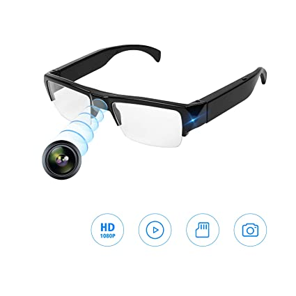 Camara espia,Gafas Camara 1080P HD Camara Oculta Pequeña Camara De Vigilancia Camara Exterior Camara