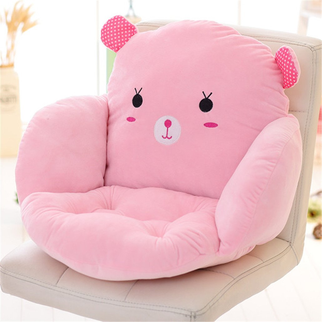 Cartoon Animal Soft Cotton Seat Cushion Pillow,Back Seat Chair Cushion for Car Office,Home Decoration Sofa Waist Throw Cushion