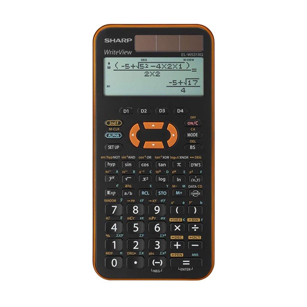 Sharp EL W531 XG Orange Taschenrechner Schutztasche GeometrieSet Garantie