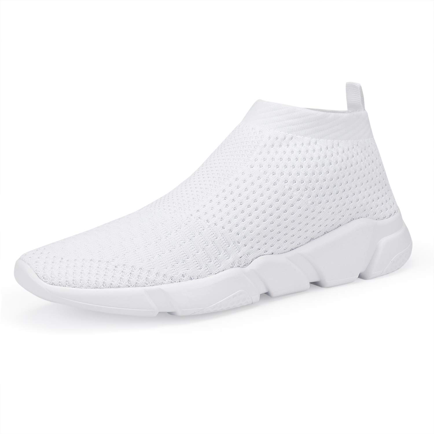 f26cb37600a65 Galleon - WXQ Men's Athletic Walking Shoes Lightweight Fashion Sneakers  Breathable Flyknit Running Shoes White 41