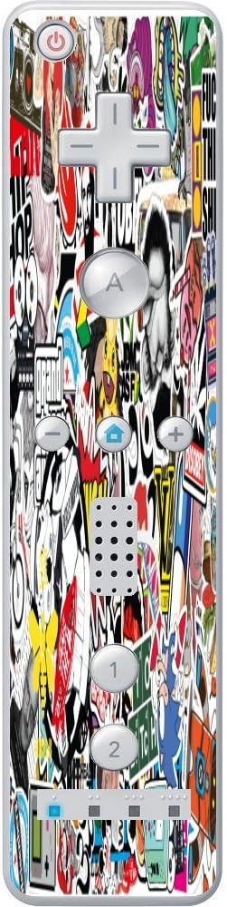 Sticker Bomb Wiimote Wii Controller Vinyl Decal Sticker Skin by PersonalizedPrinting4u