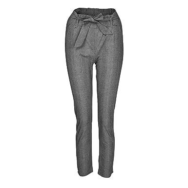 Paolian Pantalones Pinzas Para Mujer Verano 2018 Casual Pantalones De Vestir Estampado Cuadros Fiesta Pretina Cintura Alta Pantalones De Pinza 34