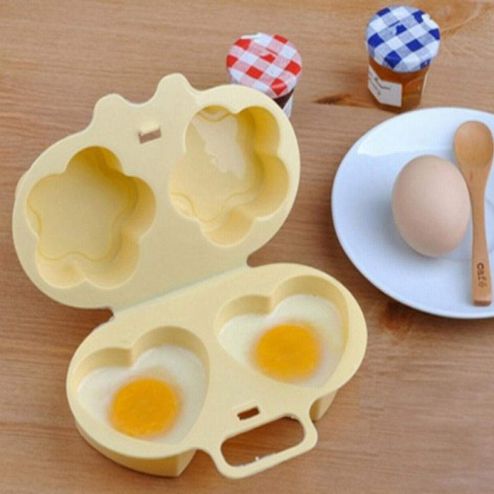 Yuaer Cocinar hueveras Material plástico Comestible Desayuno ...