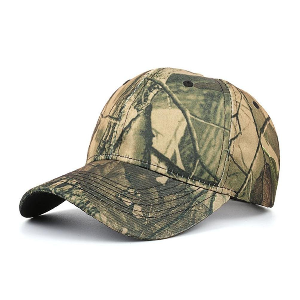 Hemlock Hats Outdoor Running Caps,Hemlock Sports Sun Cap Camouflage Fishing Hat Snapback Baseball Cap Adjustable Beach Hats (Green)
