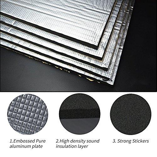 - Guteauto 236 mil 15 sqft Sound Deadening Deadener Insulation Mat Automotive Deadener Wall Soundproofing Foam Panels 55