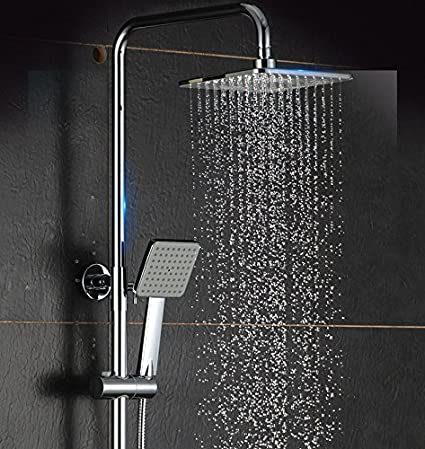 "Bathroom Rainfall Shower System Set 10/"" Tub Filler Digital Display Mixer Tap"