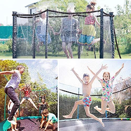 isYoung Trampoline Sprinkler-Outdoor Water Play Sprinklers for Kids Water Park Sprinklers Summer Yard Game Sprinkler ( 39 ft)