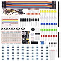 Kuman Electronic Fans Bundle Learning Kit for Arduino Raspberry pi with Breadboard Cable Resistor, Capacitor, LED, Potentiometer (236 Items) K66